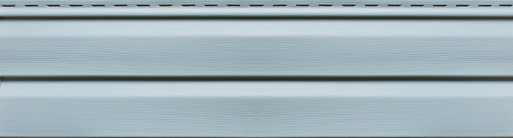 Полный вид - Виниловый сайдинг Ю-пласт, Голубой